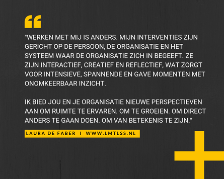 LMTLSS - Laura de Faber. With a focus on curiosity and being, rather than knowing or being right, possibilities are limitless.