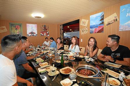 Extraraum für Gruppen und Familienfeiern im asiatischen Restaurant Sakura Lörrach