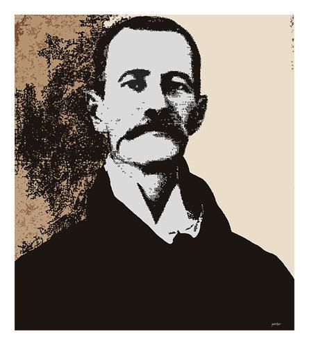 Ketevan speelt Joseph Sickman Corsen. Portret door Nicolaas Porter