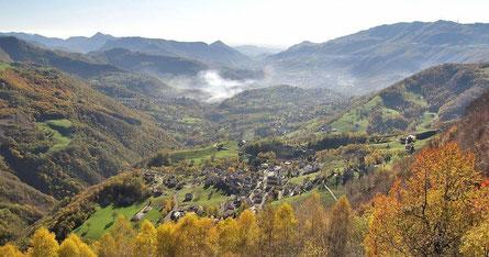 Panorama della Valle da Brumano