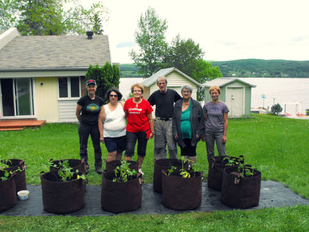 agriculture urbaine, jardin en pots, smart pot, urbainculteurs, root pouch, aménagement de potager