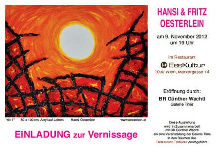 Ausstellung Hansi und Fritz Oesterlein im Restaurant EssKultur 1030 Wien Marxergasse 14