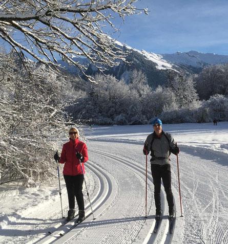 La plaine de Morillon ski de fond piste