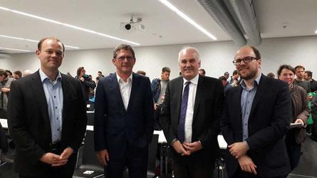 Tobias Obele, Prof. Dr. Michael Kaschke, Bernhard Richter und Hendrik Althoehn
