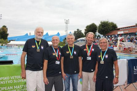 v.l.n.r. Norbert Skrinjar, Hansi Brückner, Norbert Schüppler, Dr. Heiner Halfmann, Norbert Bande