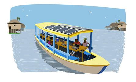 Le projet de cyberpirogue solaire