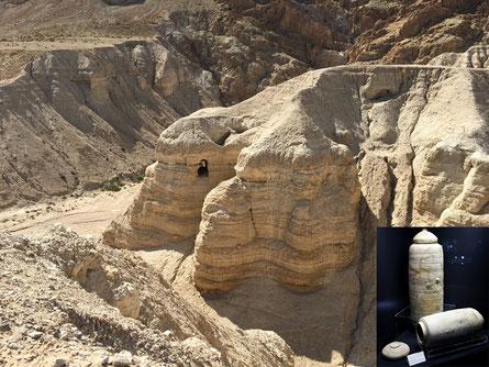Die Höhle IV von Qumran. In dieser Höhle wurde die größte Zahl an Textfragmenten der Bibel gefunden.