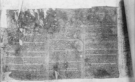 Schriftrolle des samaritanischen Pentateuch von Nablus