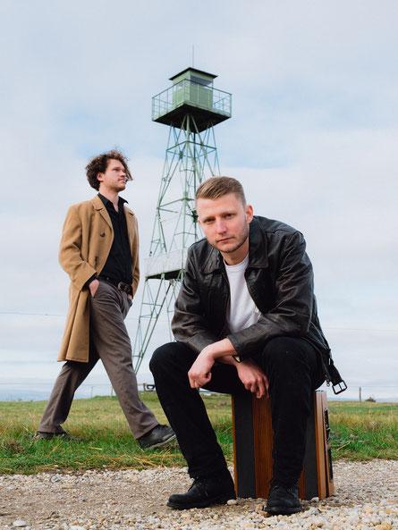 Moritz Kristmann (vorne) und Michael Schmücking sind Another Vision. (c) Gabriel Hyden