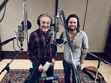 Karel Gott und Krajčo (Band Kryštof ) bei den Aufnahmen im Januar 2019. (c) Universal Music Czech Republic