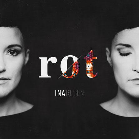 """Albumcover """"Rot"""" von Singer/Songwriter Ina Regen."""