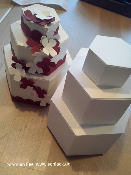explosionsbox mit torte willkommen bei stampin fee. Black Bedroom Furniture Sets. Home Design Ideas