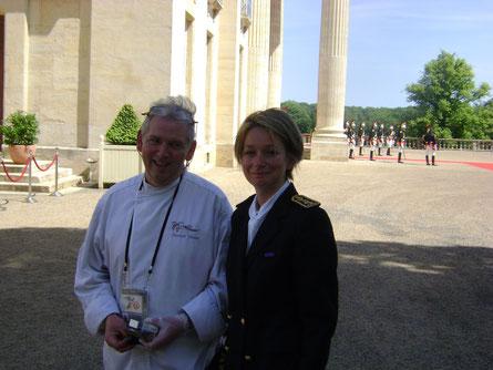 Patrick DANET et Mme la sous préfète du Calvados