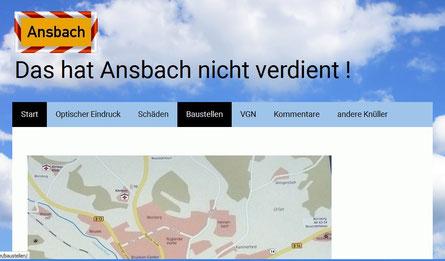 Ansbach - Optik - Schäden - Baustellen, Bilder sprechen Bände ...