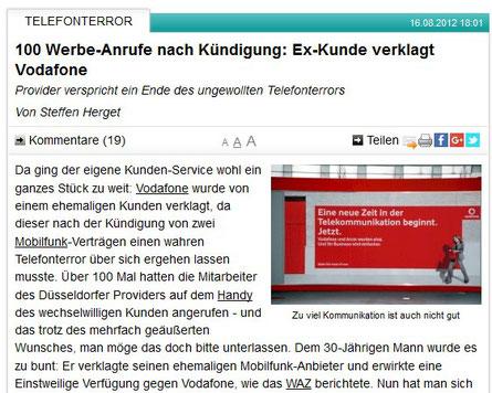 "Vodafone ""Telefonterror"""