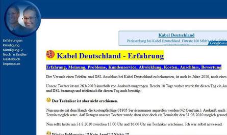 Schlechte Erfahrung mit Kabeldeutschland