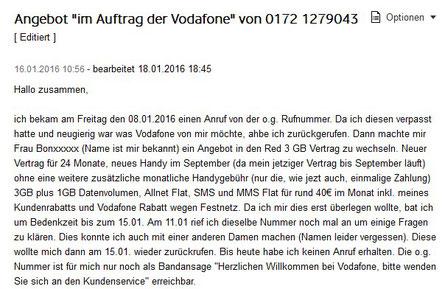 Vodafone scheint teilweise den Überblick zu verlieren