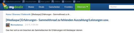 mydealz - Erfahrungen zu Mediaspar.TV