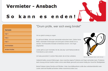 Ärger mit Vermietern, Mietern in Ansbach