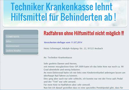 Radfahren gehört nicht zu den Grundbedürfnissen des Menschen in Deutschland, nach Meinung der Techniker TK