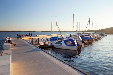 Blick in den Hafen von Senftenberg (© Andreas Franke)