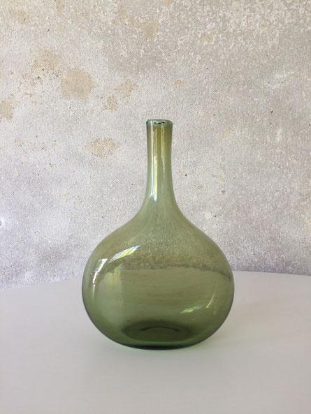 verre soufflé vintage, Claude Morin, Dieulefit