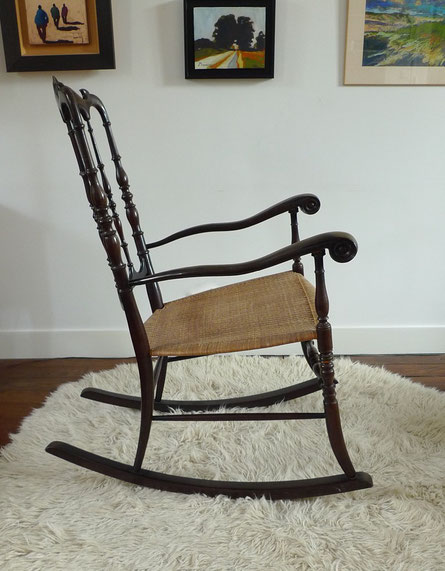 rocking-Chair noir  Chiavari Parigina JOLI