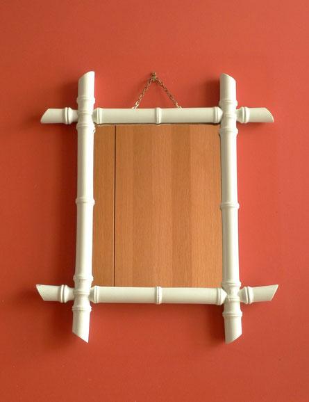 JOLI, miroir bambou, vintage