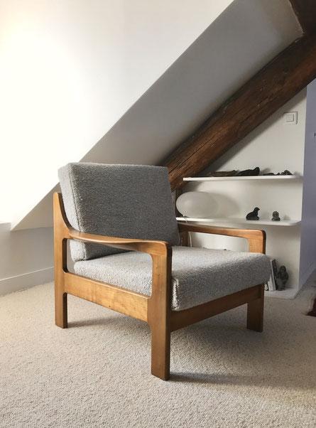 fauteuil scandinave, fauteuil vintage scandinave, fauteuil danois, EMC Mobler, fauteuil teck scandinave