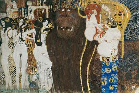 """""""La frise Beethoven"""" - Gustave Klimt (copy-1984)"""