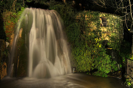 Saint Valentine waterfall and water mill (on the right side)