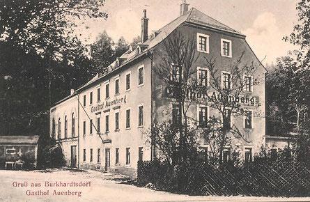 Ansichtskarte vom Gasthof Auenberg