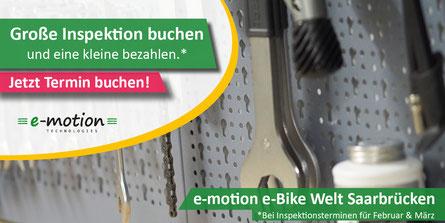günstige e-Bike Inspektion in der e-motion e-Bike Welt Saarbrücken