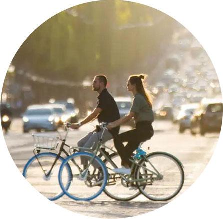 Vélo hollandais de location à Paris