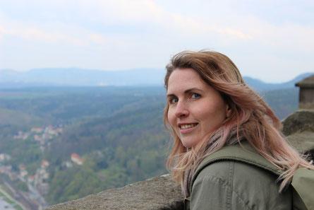 Tolle Aussicht von der Festung Königstein.