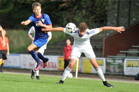 Zwei Treffer gelangen Niclas Dormayer (r.) beim Stadtlohner Sieg in Billerbeck. © Sascha Keirat (A)