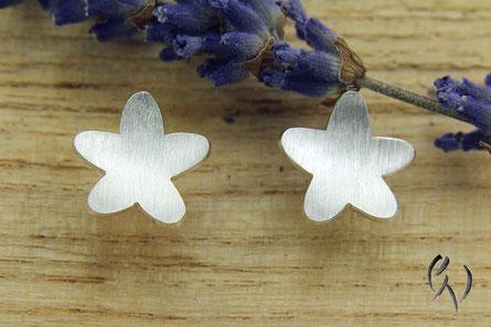 Ohrstecker Silber, Blume, Gänseblümchen