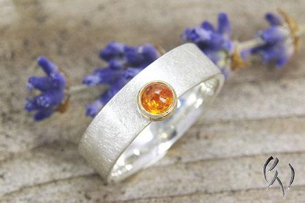 Ring Silber mit Mandaringranat