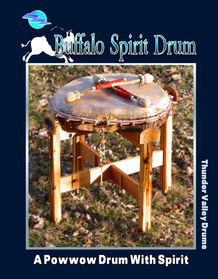 """Buffalo Spirit"" powwow drum from Sacred Shaman Drums (Thunder Valley Drums)"