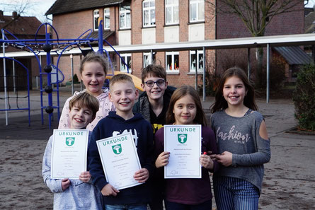 Für die Moltkeschule spielten Nick, Geneviève, Magnus, Nevio (Rd. 1), Tim (Rd. 2); außerdem als Ersatz dabei: Johanna und Katharina.