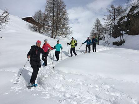 Schneeschuhlaufen auf der Fafleralp