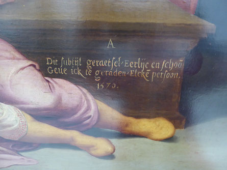 Detail 'Het Raadsel van Nijmegen (1576).   Foto: Thea Penterman