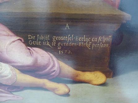 Detail 'Het Raadsel van Nijmegen' (1576).   Foto: Thea Penterman