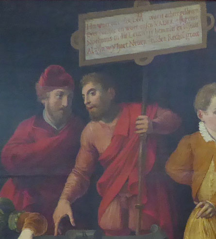 Foto-uitsnede schilderij 'Het Raadsel' (1576) - Museum Het Valkhof