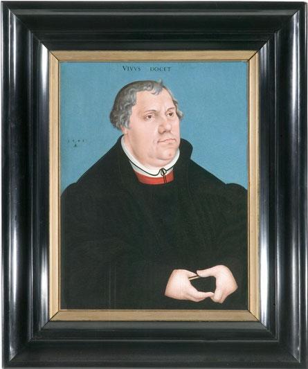 Maarten Luther (1483-1546).  Portret  - 1546 - door Lucas Cranach  Vaste collectie Catharijneconvent Utrecht - RMCC s107