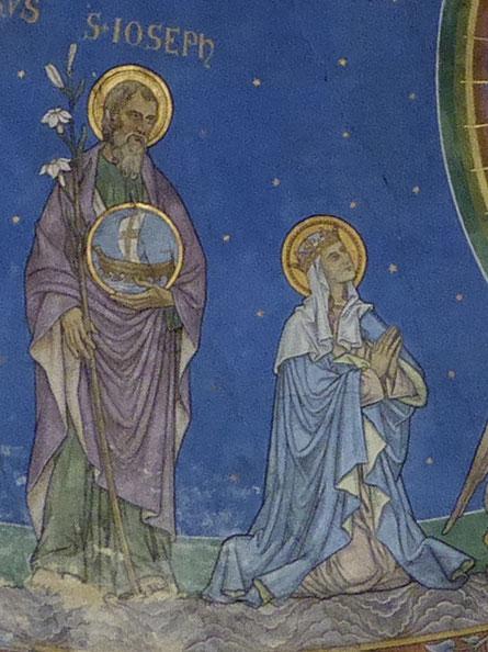 Sint-Ioseph en zijn beminde echtgenote Maria de Moeder van Jezus