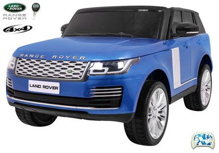 Land Rover/Range Rover/2 Sitzer/Kinderauto/Kinder Elektroauto/Kinder Auto/lizensiert/blau lackiert/