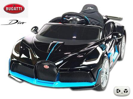 Bugatti/Divo/Kinderauto/Kinder Elektroauto/lizensiert/schwarz lackiert/Fernbedienung/