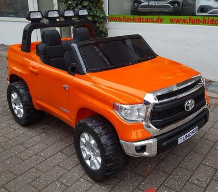 Toyota/Toyota Tundra/XXXL/2 Sitzer/lizensiert/Kinderauto/Kinder Elektroauto/orange/