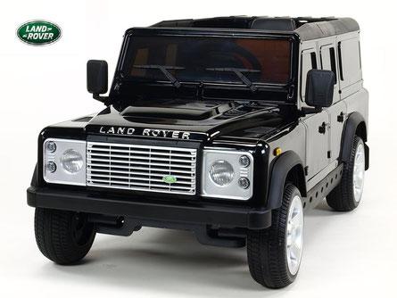 Land Rover/Defender/Kinderauto/Kinder Elektroauto/Kinder Auto/lizensiert/schwarz lackiert/